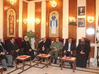 Cliquez pour agrandir les phots  (Le Mouhafed d'Alep en tournée aux autorités religieuses)