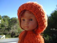 Bonnet orange pour poupée chéries de corolle+tuto