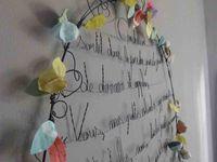"""... un 2ème médaillon littéraire """"Cendrillon""""... (un 1er était pour la vitrine de printemps pour """"Même les objets ont une vie"""" en mars 2013...)"""