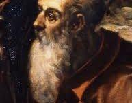 Portrait de Guillaume Postel - Le Tintoret ( « l'Adoration des Mages »  Scuola Grande di San Rocco – Venise). - Stèle et vitrail commémoratifs en hommage à G. Postel  (Barenton)