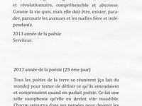 2013 Poésie (pensées, aphorismes, réflexions, conneries, pataquès ruminations etc.
