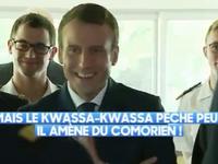 Vives réactions après une blague de Macron : &quot&#x3B;Mais le kwassa-kwassa pêche peu, il amène du Comorien&quot&#x3B;