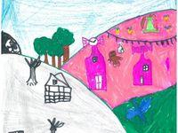 De jolis dessins envoyés par l'Ecole St Joseph de TAULE , Merci aux élèves de Véronique Reguer