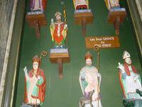 la ria de Taulé vue du pont de la Corde - la chapelle ste Barbe avant St Pol - les 7 saints fondateurs bretons à St Pol de Léon
