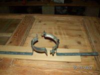 Un petit coup de soudure pour fixer le tuyau (poujoulat).