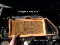 Dépose du dessus,tuyauterie, débitmètre, filtre à air