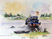 Vietnam - Dessins aquarellés