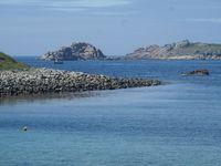 Carte postale de Bretagne : A Porspoder la plage des dames, la plage aux tortues