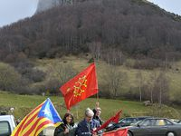 Au pied du château de Mont Segur le dimanche 20 mars 2016.