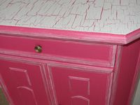 Meuble rangement chambre fille - rose - armoire de poupée style fantaisie princesse