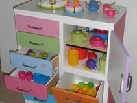 commode multicolore pour chambre, salle de jeux