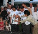 De gauche à droite : Au Lichtenstein en 2004-2 - Au Lac Baïkal en Russie en 2008 - Arc-en-ciel après la cérémonie au Lac Baïkal en 2008