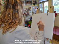 Les artistes à l'oeuvre