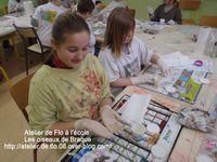 Les jeunes artistes à l'oeuvre