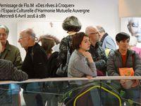 Vernissage de l'exposition Flo.M vous invite à croquer du rêve