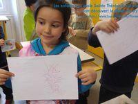 Journée stylo avec Flo à l'école Sainte Thérèse de Clermont Ferrand