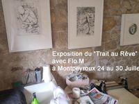 """Exposition """"Du trait au rêve"""" Flo.M à Montpeyroux"""