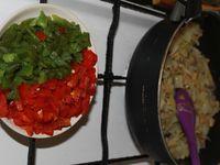 Pain Galette Farci à la Viande Hachée, Légumes et Fromage