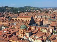 Panoramas sur Bologne depuis la tour Asinelli