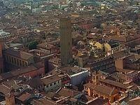 Vue du Ghetto Ebraico depuis la Tour Asinelli