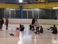 Premiers exercices sur la glace