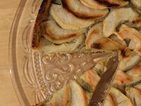 Tarte aux pommes &amp&#x3B; compotée de rhubarbe