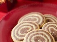 Biscuits &quot&#x3B;spirales&quot&#x3B; chocolat &amp&#x3B; orange
