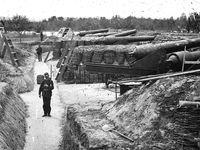 A gauche, fortifications de Yorktown, au milieu, un point de débarquement de l'union près de yorktown, à droite le site de White House Landing, près de yorktown, durant la campagne de la pénisule.