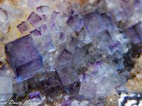Fluorite (Fluorine) with Galene on Quartz from Bingham, New Mexico