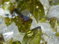 Titanite Sphene with Calcite  from Tormiq valley, Haramosh Mts., Skardu District, Baltistan, Gilgit-Baltistan (Northern Areas), Pakistan (size: Cabinet)
