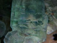 Fluorite with Calcite from Shangbao Pyrite mine, Leiyang Co., Hengyang Prefecture, Hunan Province, China (size: Museum)