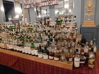 "Le stand ""oldies"" de Whiskycorner et celui de Malts of Scotland"