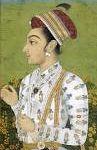Les enfants du couple que l'on retrouve principalement dans le roman : Aurangzeb (fond violet) futur empereur Âlamgir Ier, Dârâ (fond vert profil droit), Shâh (fond vert profil gauche), Jahanara (noir et blanc profil droit) et Roshanara