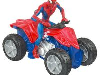 Power rangers moto miracle, Quad Spiderman qui avance tout seul et Planes