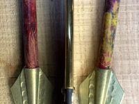 Couteaux hirondelle lame xc75 manche laiton plié