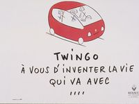 French advertising for the 1993 Renault Twingo