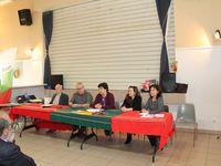 Le jury du concours de spécialités ! Rumi, gagnante catégorie plats salés bulgares, récompensée par Jean-Marie - Milena, gagnante catégorie dessert bulgare, récompensée par la vice-présidente Daniela