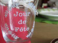 Les Coeurs au chocolat , mes verres qui sont ceux qui donnent tout en plus et les boutons de Rose au foie gras griottes ne sont pas là par hazard