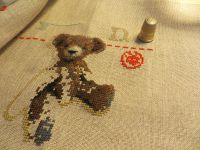 Broderie avec l'Ours Oscar ...