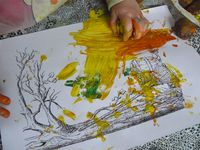 peinture aux marrons