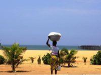 Plage et notre hôtel de Lomé