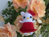 Porte clef Hello Kitty fait au crochet