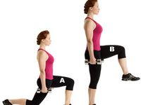 1)squats hold,2)front lunges,3) plank