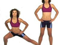 1)50 jumping jacks,2) 10 squat,3) 10 lunges(chaque jambes),4)5  jump squat,5) 10 standing calf raises,6) 10 side lunges,7) 10 side to side jump,8) 20 jumping jacks,9) 40 russian twist