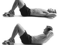 1) 75 crunches,2) 75 side crunches,3) 75 back arches,4) 1 minutes bicycle crunches,