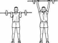 1) biceps curls,2) biceps hammer curls,3) tricept extension,4) dips,5) overhead presses,6) side lateral raises,