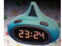 Photo 1 (armoire bleue & noire), photo 2 (lampe bleue & noire), photo 3 (horloge bleue & noire).