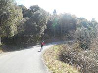 1- Jano dans la descente. 2- Le Château de Sampzon (12ème Siècle) 3- L'Ardèche.