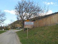 1 et 2- Montée du col de Laux. 3- Village de Chauvac. 4- Rémi et Gégé sous la plaque de Cocher.