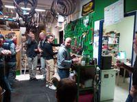 Passage par l'atelier mais pas pour soigner le vélo, plutôt le gosier n'est-ce pas Olive ?